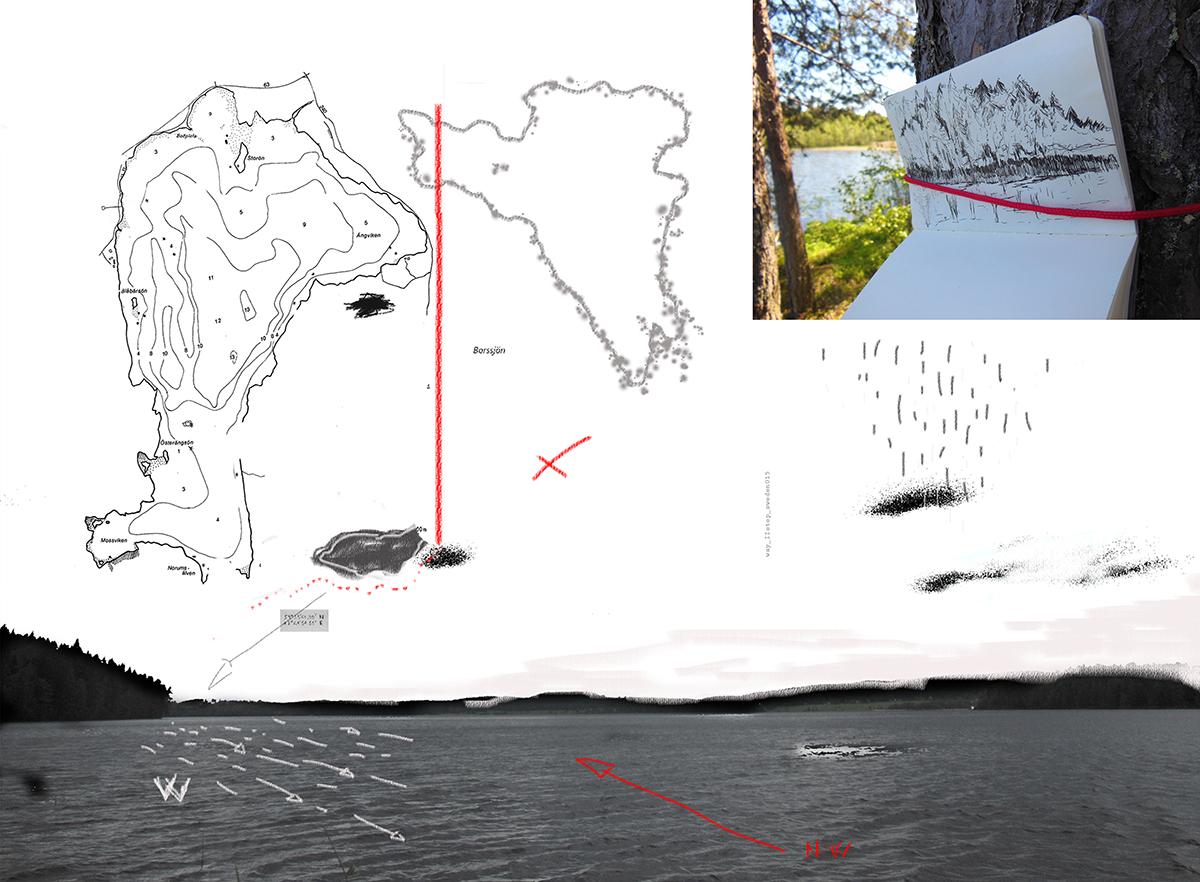 Daniele Girardi, North Way , art project, site-specific art, art residency, Norvegia, Svezia, Finlandia, Moleskine, sketchbook