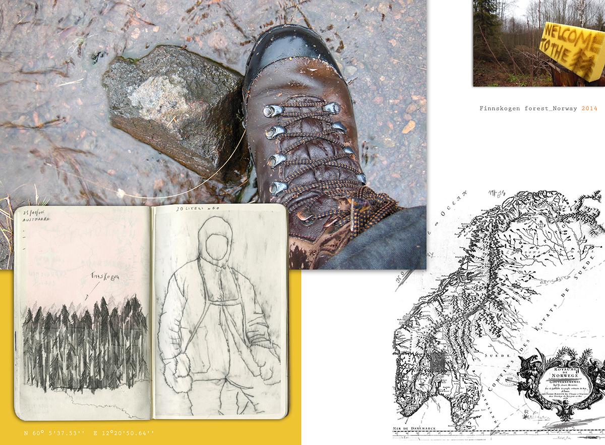Daniele Girardi, North Way , art project, site-specific art, art residency, Norvegia, Svezia, Finlandia, Moleskine