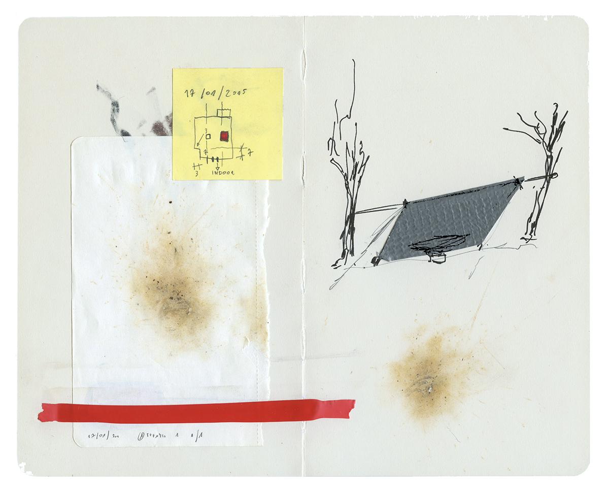 Daniele Girardi, site-specific project, bivouac, art project, installazione, disegno, fotografia