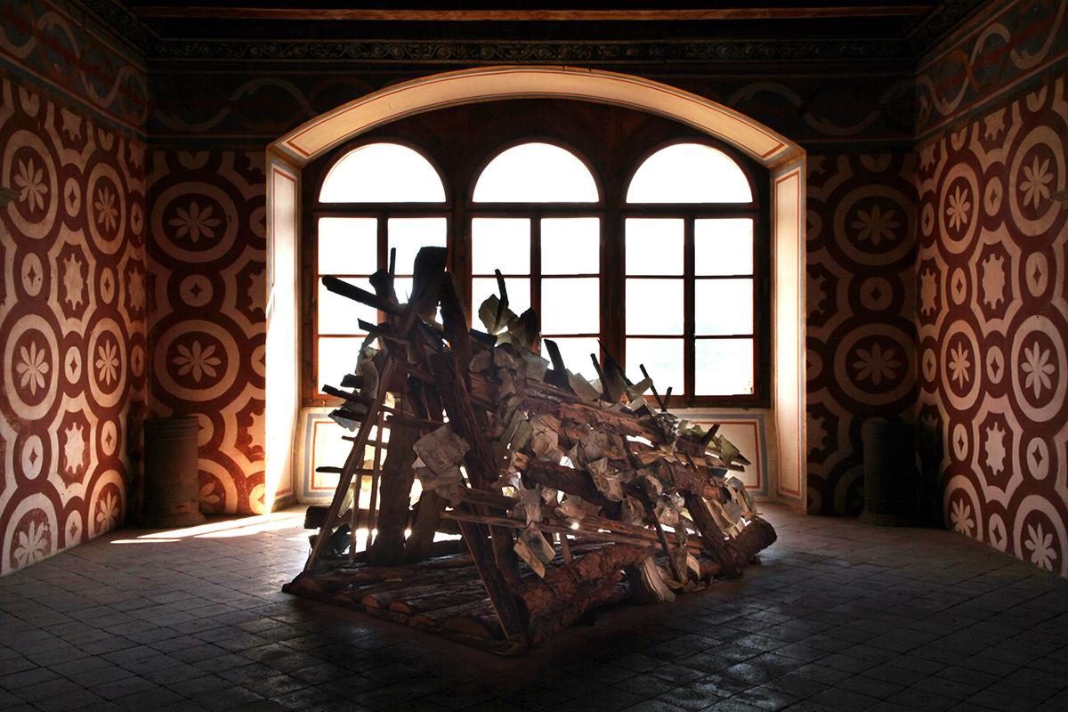 Daniele Girardi, 2021, Refuge, installazione site-specific, installation art, opera arte, art work